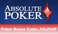Absolute Poker Reload Bonus Code Juli 09