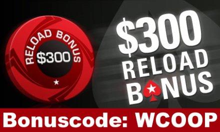 PokerStars Reload Bonus August 2009