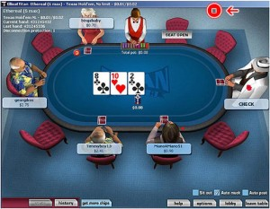 Titan Poker Software Tisch