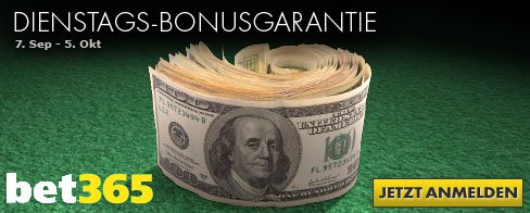 bet365 Poker Bonus September 2010