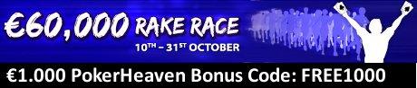 Poker Heaven Bonus Rake Race Oktober 2010