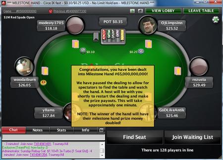 PokerStars Milliardste Hand