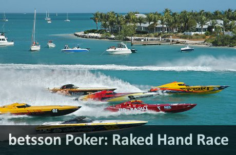 betsson Poker Rake Race November 2011