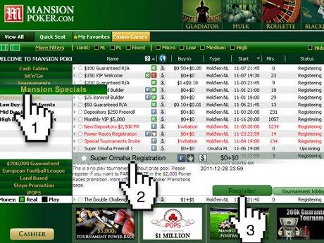 Mansion Poker Omaha Rake Race