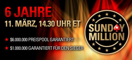 PokerStars Sunday Million Mrz 2012