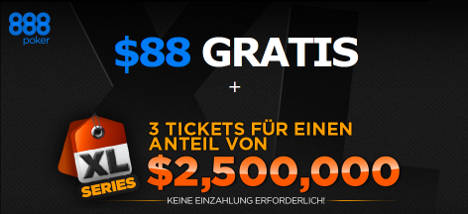 888 Poker No Deposit Bonus